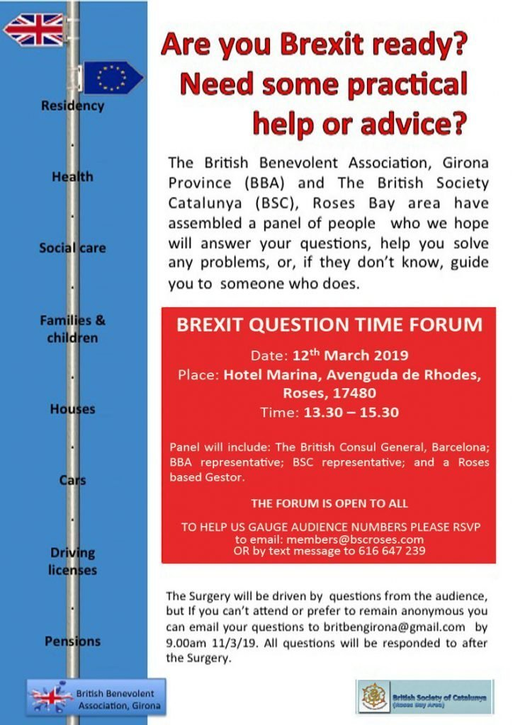 Brexit question time forum, Roses, poster
