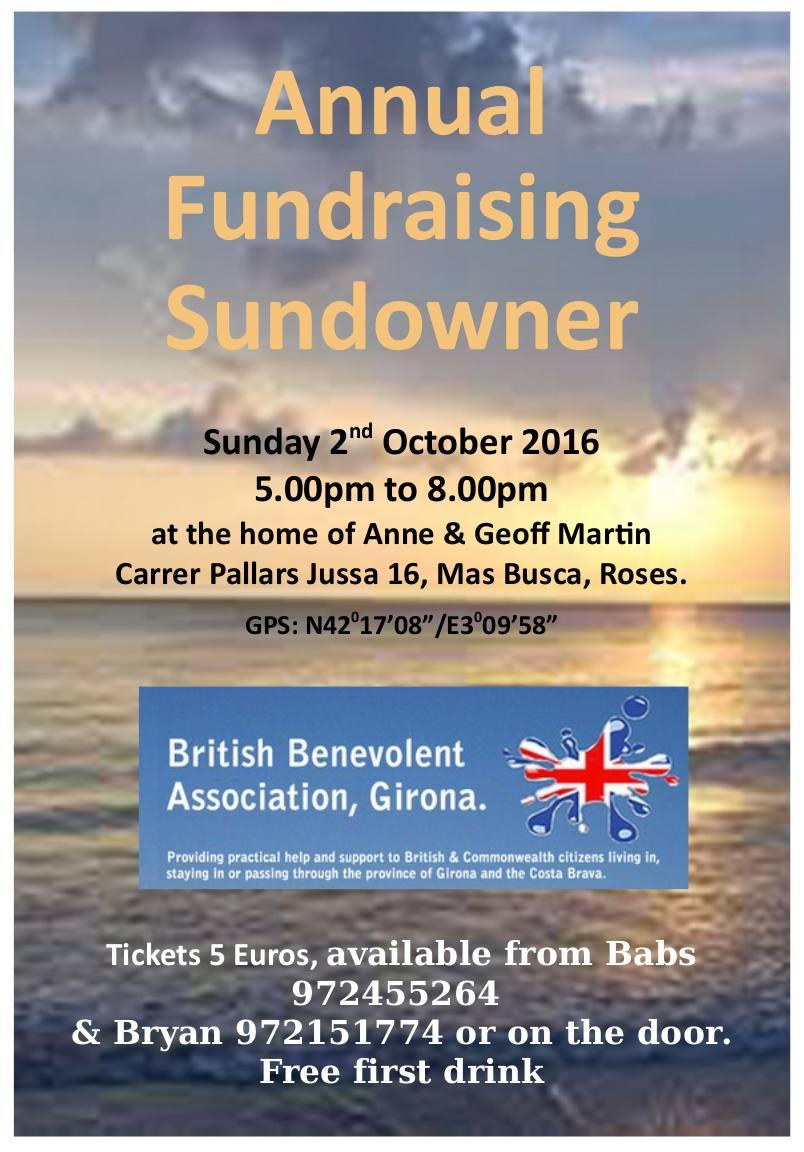 BBA Girona Fundraising Sundowner